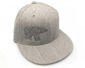 cfb3848e94b Bear Made of Triangles - Men s Unisex Hat - All Sizes Available - Pro  Fitted