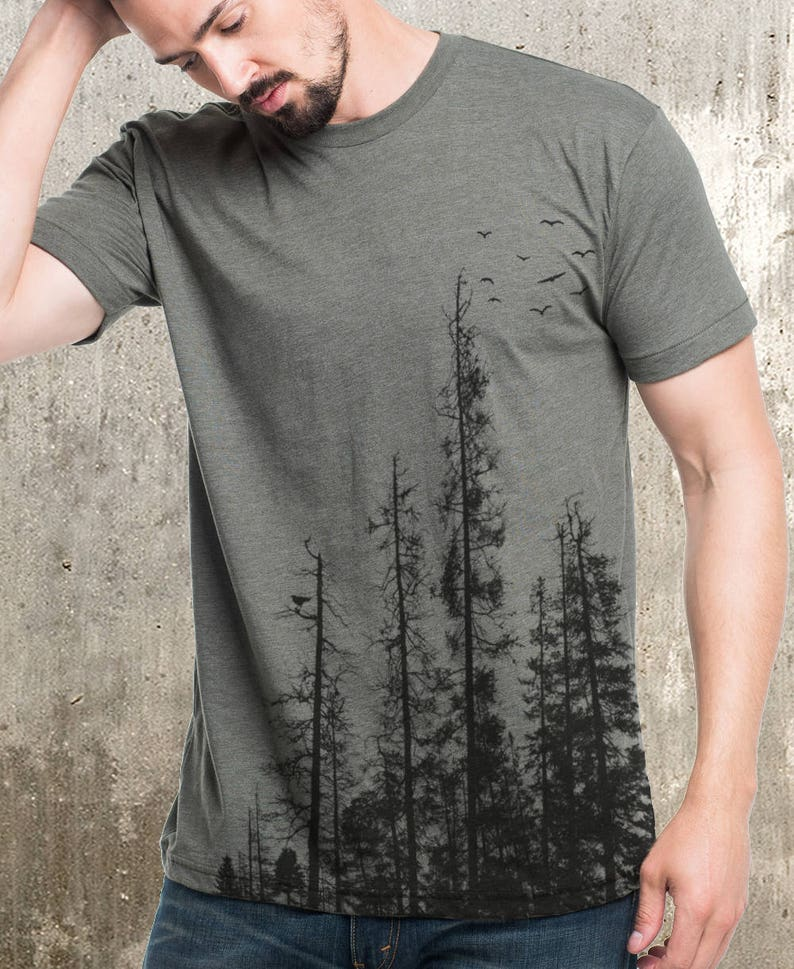 ac205ec48 Men's Pine Tree Forest T-Shirt - Screen Printed Men's T-Shirt
