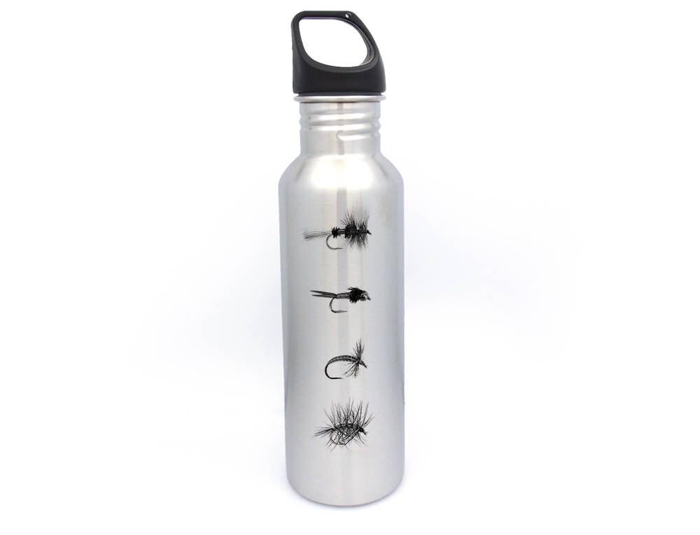 Edelstahl Wasserflasche Fliegenfischen fliegen   Etsy