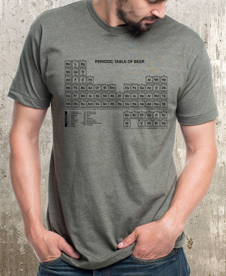 Awesome Periodic Table Of Beer T Shirt Mens Screen Printed T Shirt Home Interior And Landscaping Ferensignezvosmurscom