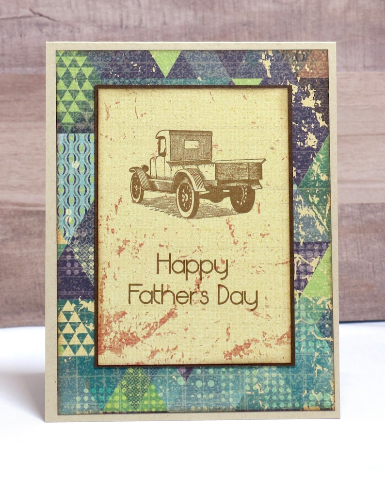 Father's Day Card Happy Father's Day Pick Up Truck image 0