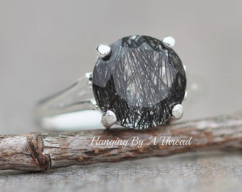 Faceted Black Lab Created Pear Shape Large Ring Unisex Birthstone Jewelry Boho Jewelry Gift For Her Oxidized German Silver Jewelry
