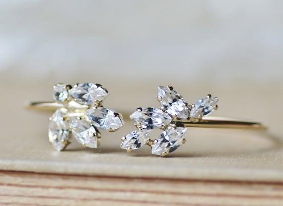 neue swarovski kristall klar diamant marquise armband gold. Black Bedroom Furniture Sets. Home Design Ideas