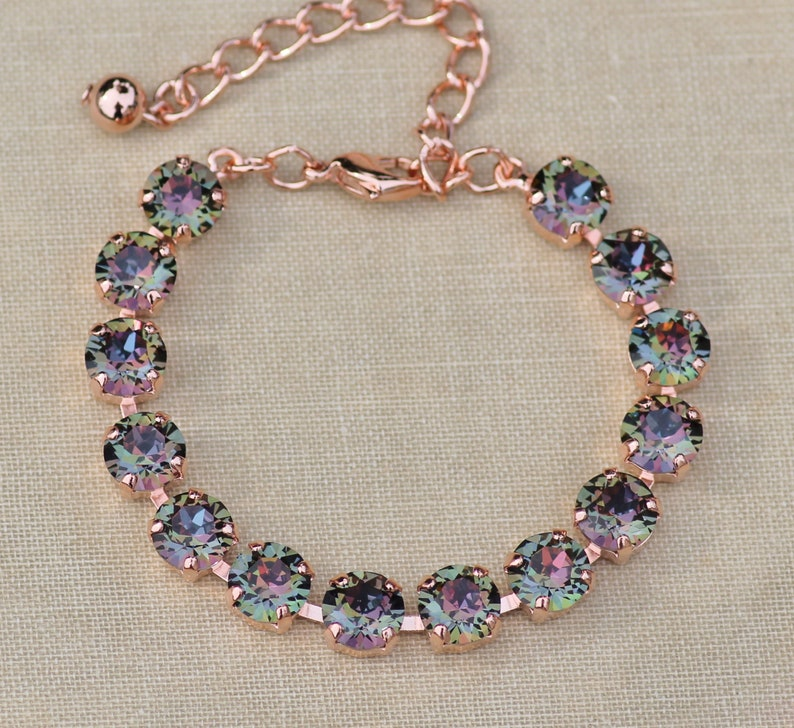 aaa04ee1d1d0 NEW COLOR Swarovski Crystal Twilight Tennis Bracelet8mm