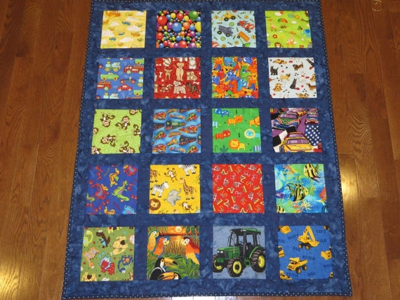 Pattern For I Spy Quilt Or Any Theme With Sashing Baby Etsy Interesting I Spy Quilt Pattern
