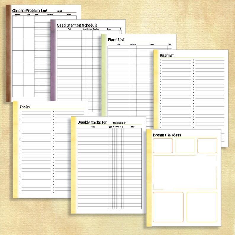 Garden Planner Simple Edition 8.5x11 Binder | Etsy