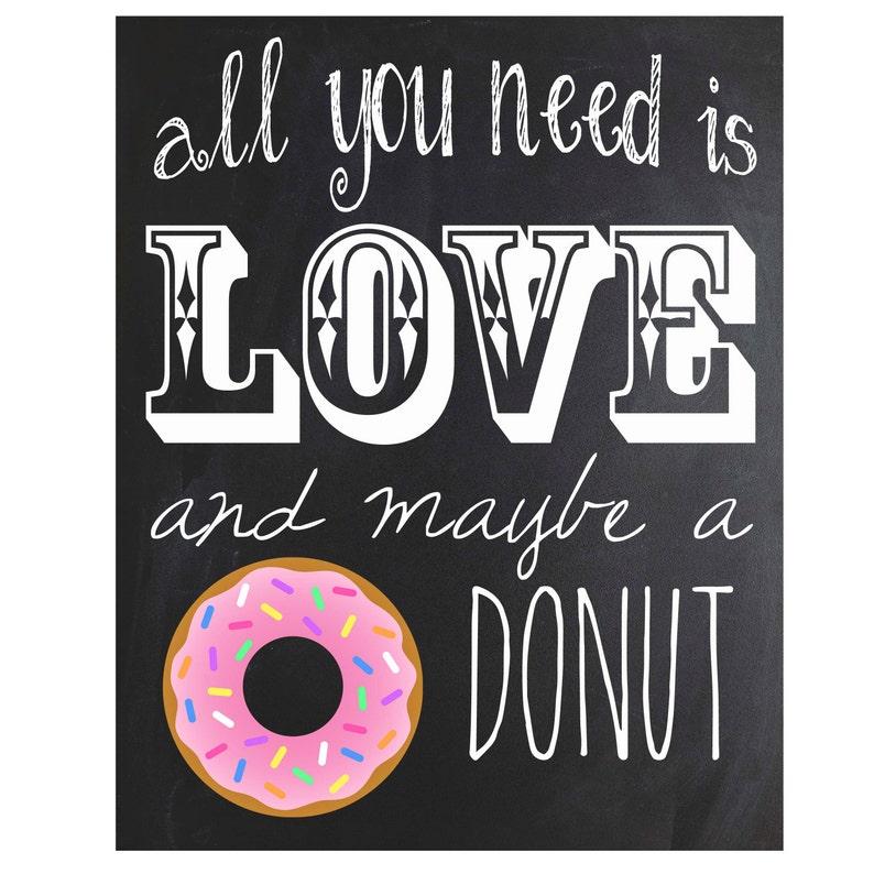 Donut Chalkboard Sign  Instant Download image 0