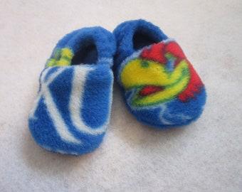 KU Kansas Jayhawks fleece baby booties