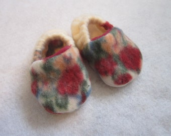 Our Lady of Guadalupe fleece baby booties