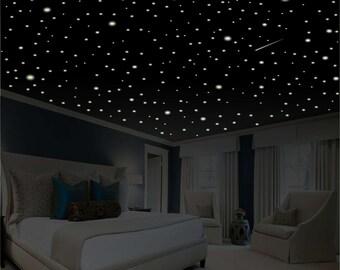 Romantic Bedroom Decor Star Wall Decal Glow in the Dark