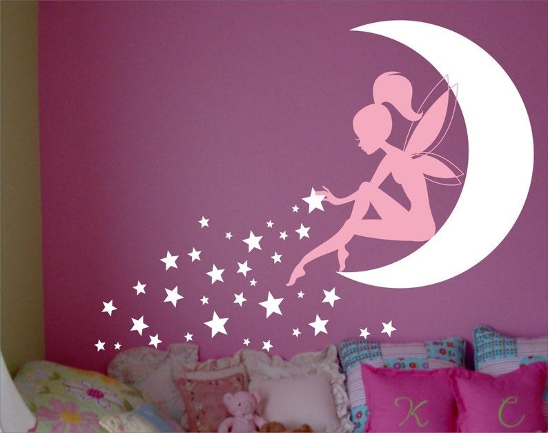fairy wall decal fairy wall decor wall decal fairy fairy | etsy