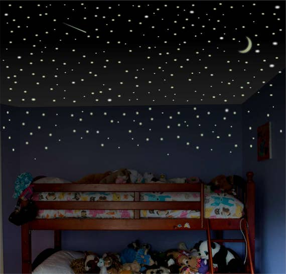 Superbe Boys Room Wall Decal Glow Stars Childrens Room Wall Decal | Etsy