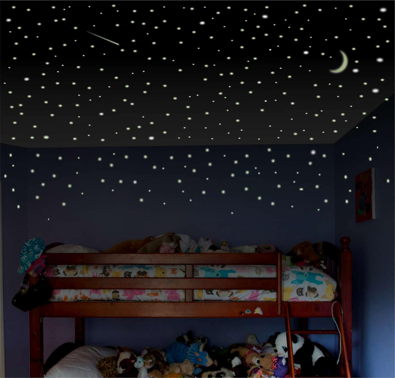 Boys room wall decal Glow Stars childrens room wall decal | Etsy