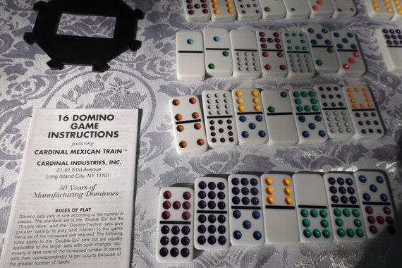 Dominoes 91 Double 12 Collectors Mexican Train Complete Set Etsy