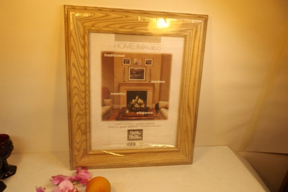 large wooden oak vintage professional frame for picture etsy