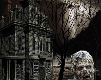 eBook Cover, Premade Digital eBook Cover, Zombie eBook Cover, Mystery Thriller Horror Premade eBook Cover, KDP eBook Cover Premade