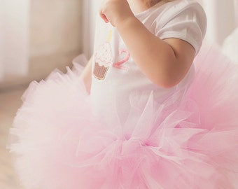 Pink Tutu Poofy for Baby, Toddler, Young girl, Birthday Party Tutu, Cake Smash Tutu, Unique Baby Gift, Baby Shower Tutu, Table Decoration