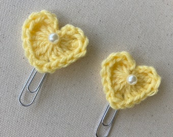 Crochet Planner Clips, Crochet Bookmark Clips, Office or Dorm Crochet Decor, Planner Organizer Accessories