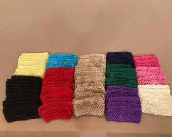 "Stretch Crochet Headbands Set of 96 Boutique DeStash Stretch Crochet Headbands 2.5"" - 2.75"" Width Multicolor Set"