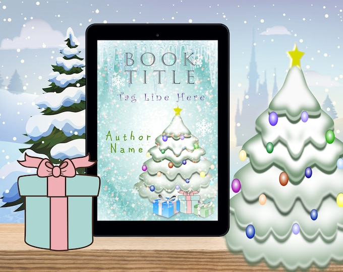eBook Cover, Premade Digital eBook Cover, Dreamy Christmas illustrated Book Cover, Christmas Winter eBook Cover, KDP eBook Cover Premade