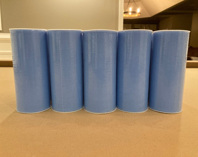 Tulle Rolls Cornflower Blue, Set of 14 Rolls of Blue Tulle, Supplies DeStash Tulle Rolls