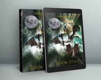 eBook Cover, Premade Digital eBook Cover, Fantasy Sci-Fi Universal Dragon Book Cover, Premade eBook Cover, KDP eBook Cover Premade