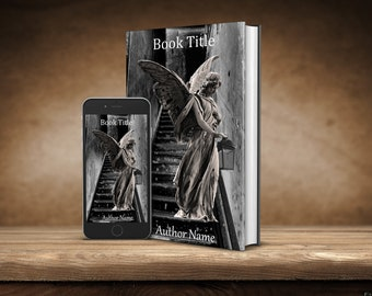 eBook Cover, Premade Digital eBook Cover, Rustic Angel Book Cover, Mystery Thriller Horror Premade eBook Cover, KDP eBook Cover Premade