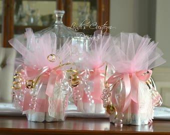 Pink Gold Mini Diaper Cupcake Table Centerpieces, Unique Baby ...