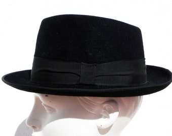 Men/'s Deluxe Wool Godfather Fedora w// Real Feather Accents