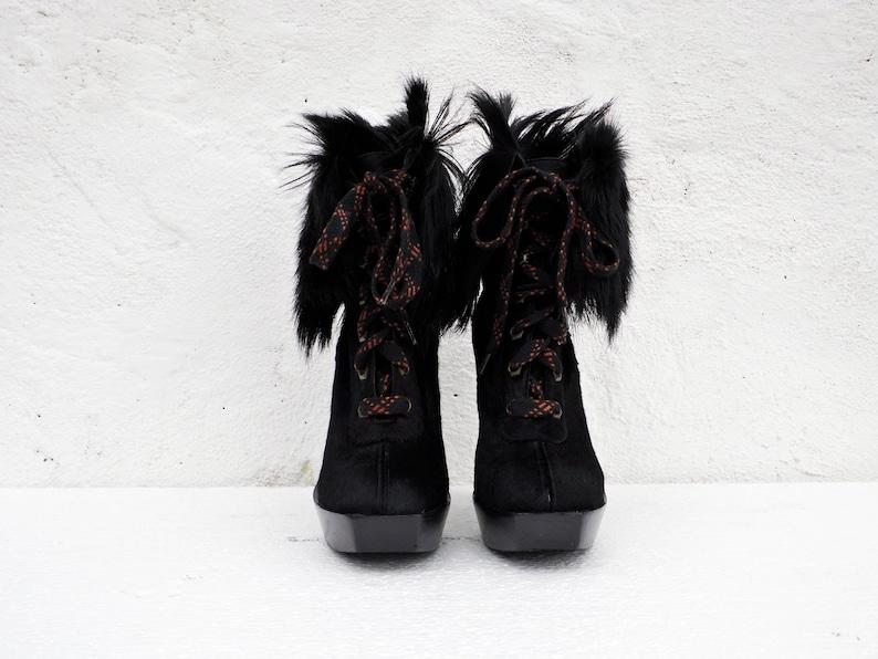 7e1b4b63e15a Vintage Marc Jacobs ankle boots black fur ankle boots designer