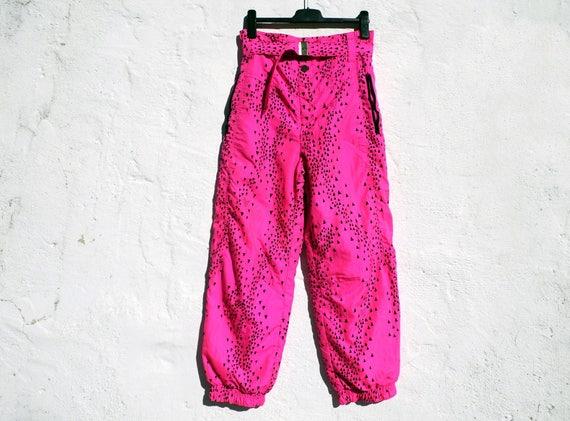 Pink ski pants hot pink ski trousers skiing pants winter sports pants hot  pink pants ad032b570