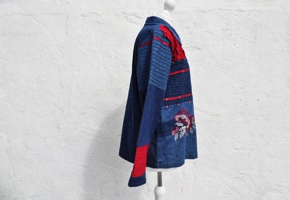 Denim jacket boho jacket patch jacket embroidered… - image 3