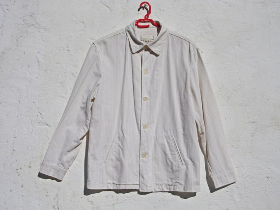 Denim jacket linen jacket summer jacket cream jack
