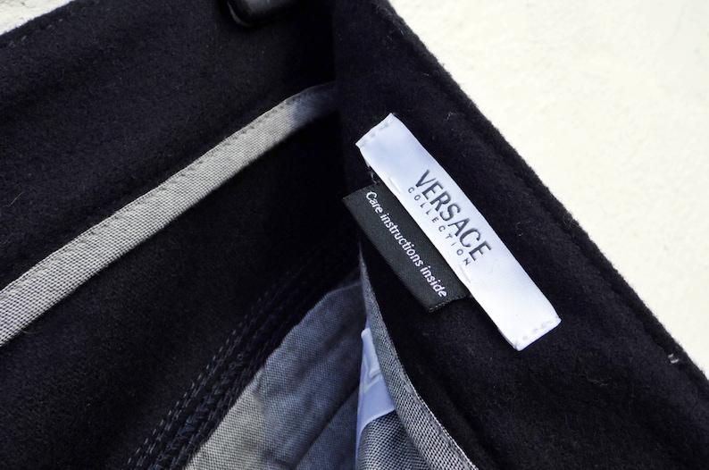 Versace pants navy pants wide leg pants sports pants active wear pants 90s rave pants hiking pants wool pants festival pants outdoor pants