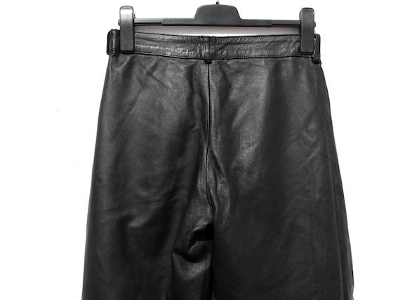 Black leather trousers black leather pants 80s le… - image 9