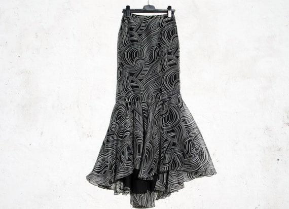 Carolina Herrera skirt maxi silk skirt maxi eveni… - image 7