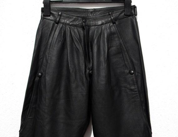 Black leather trousers black leather pants 80s le… - image 6