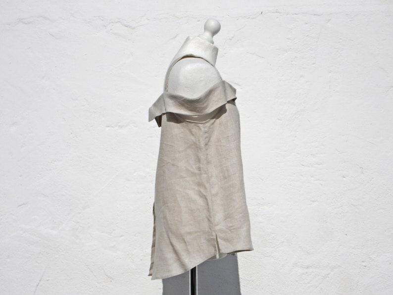 Linen blouse linen top elegant linen top sleeveless linen top summer linen top