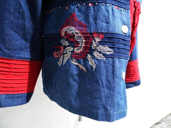 Denim jacket boho jacket patch jacket embroidered… - image 7
