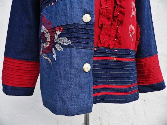 Denim jacket boho jacket patch jacket embroidered… - image 10