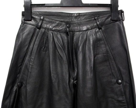 Black leather trousers black leather pants 80s le… - image 7