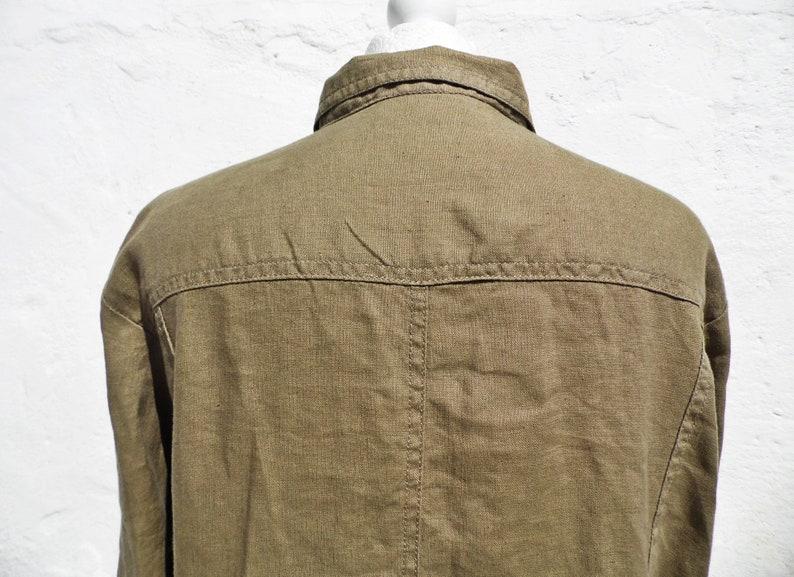 Linen shirt linen jacket khaki shirt khaki jacket loose shirt light shirt natural fiber jacket shirt summer jacket holiday shirt jacket