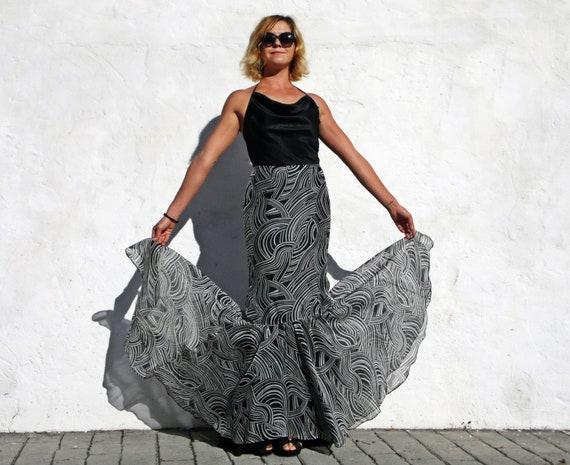 Carolina Herrera skirt maxi silk skirt maxi eveni… - image 6