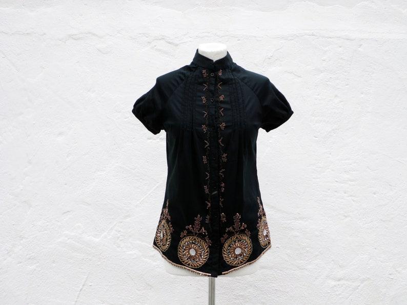 32ebd5bdfe0 Boho Top brodé chemise chemise indienne perlé chemise élégante