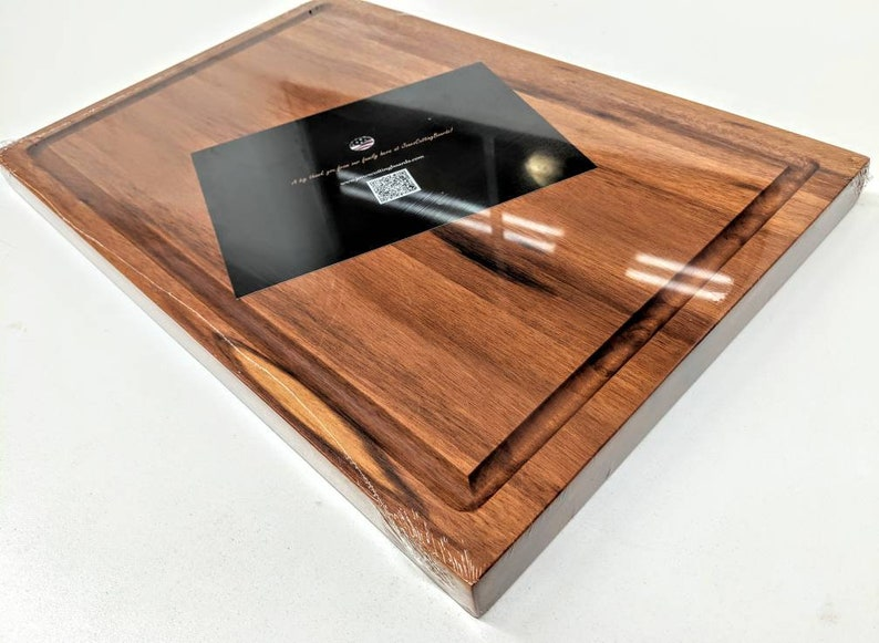Large Cutting Board Carving Board 18x12x1.5 Handcrafted Tigerwood Maple Cherry Walnut or Sapele