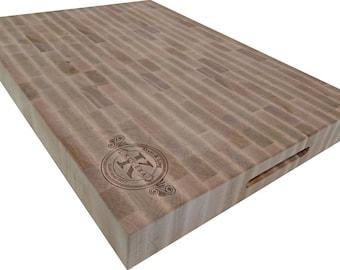 End Grain Cutting Board Engraved Butcher Block 22x16 FREE USA SHIPPING
