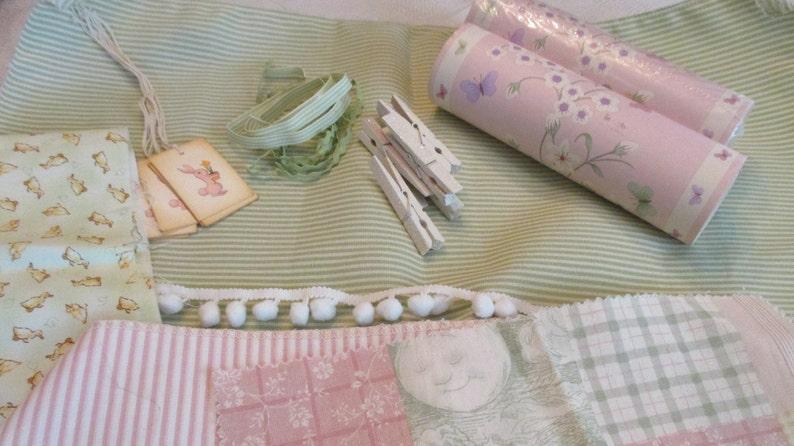 Baby Girl S Room Decor Kit Pink 2 Wallpaper Borders Etsy