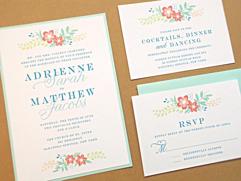 Wedding Invitation Suite / Modern Wedding Invitations Vintage image 0