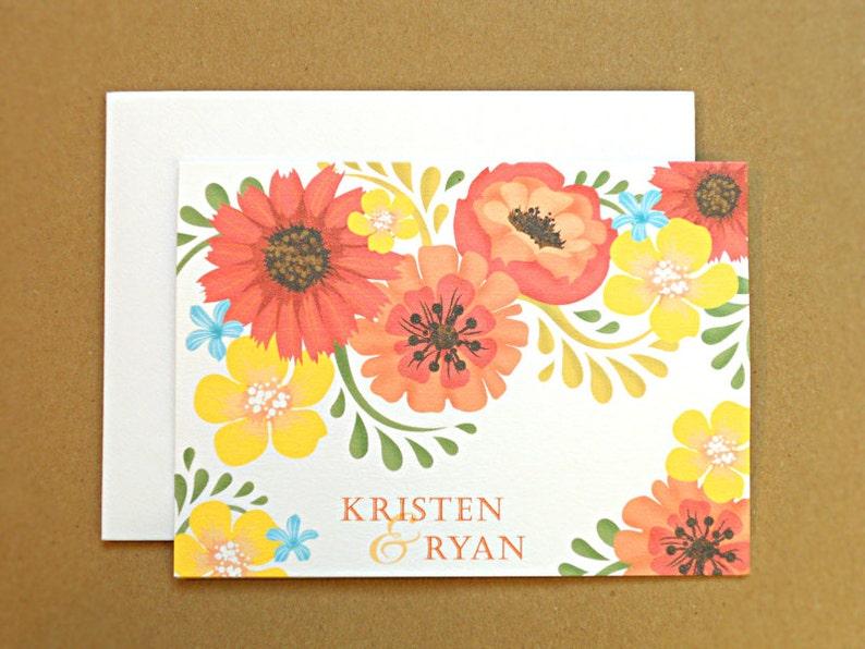 Personalized Wedding Stationery / Wedding Thank You Cards / image 0