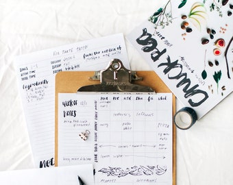printable meal planner - easy weekly meal planning and recipe manager